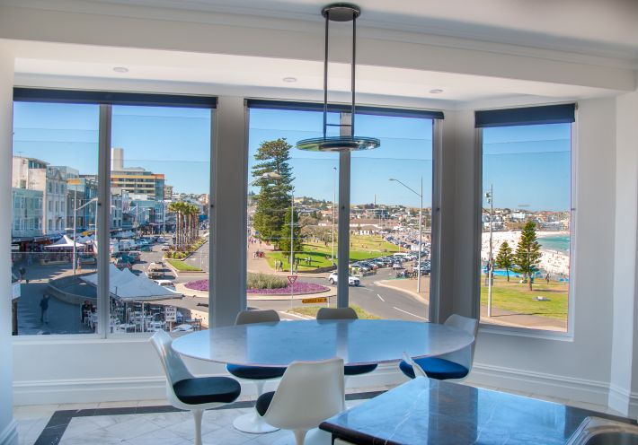 First class apartment on Campbell parade with commanding views